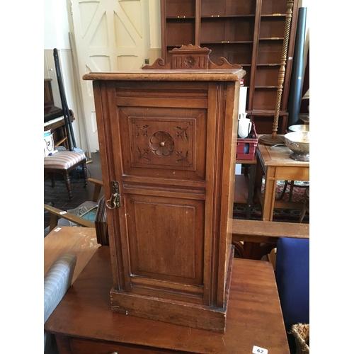 61 - Victorian mahogany bedside locker....