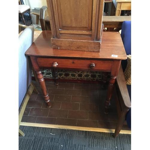 62 - Victorian mahogany chamber table....