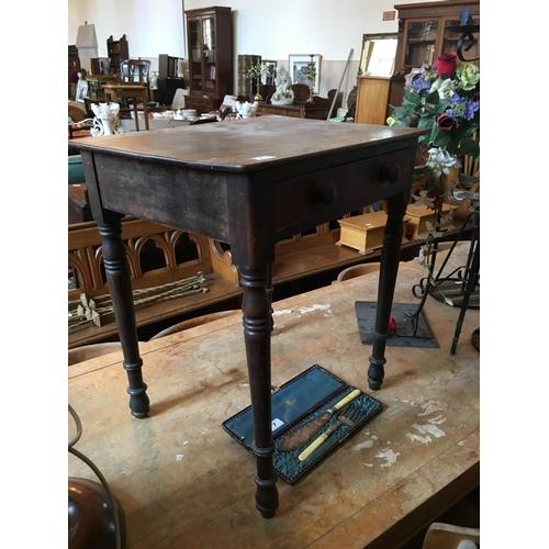 8 - Victorian mahogany bedside table....