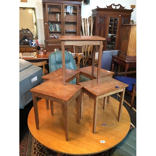 86 - Five neat occassional tables....
