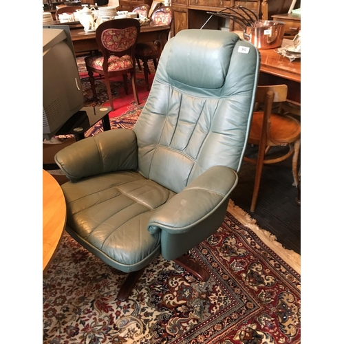 90 - Swivel Leather armchair....