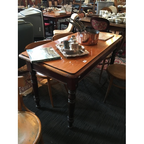 96 - Victorian mahogany centre table. 54