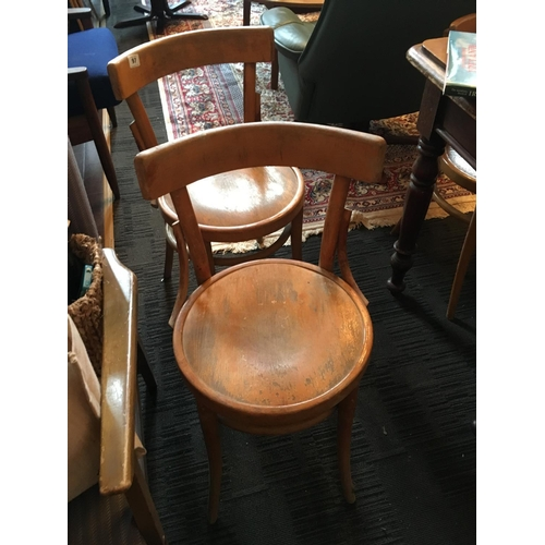 97 - Set of six bentwood chairs....