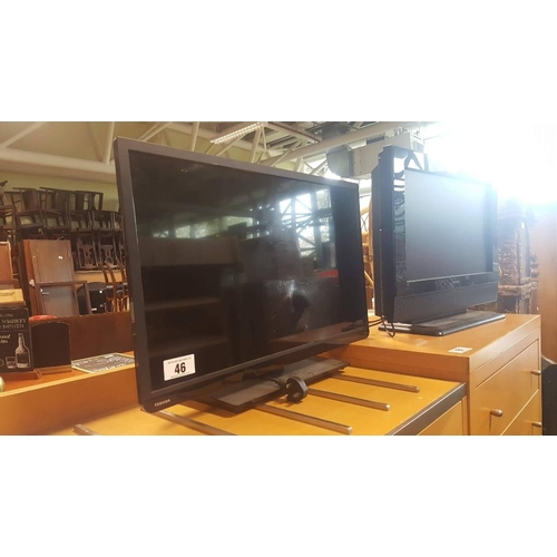 46 - Toshiba 32'' flat screen television....
