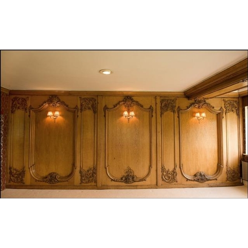 433A - Highly important oak panelling carved in the Louis XV style, from the first class lounge of the HMSH...