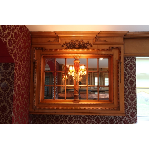 433 - Extremely rare and exceptional maple panelling in the colonial style inset with mirror from the  sec...