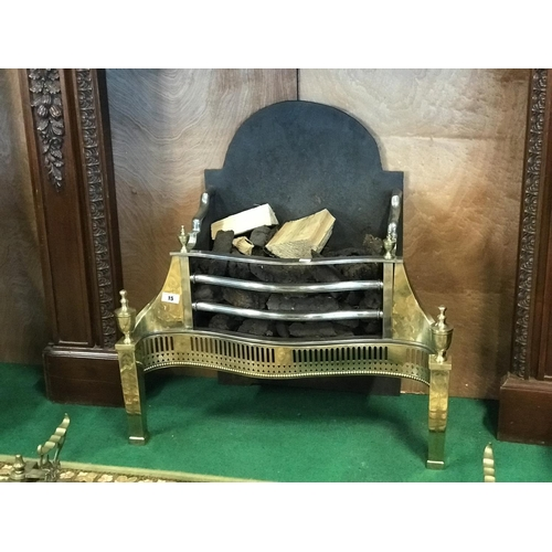 15 - Regency Brass and steel serpentine fire grate....