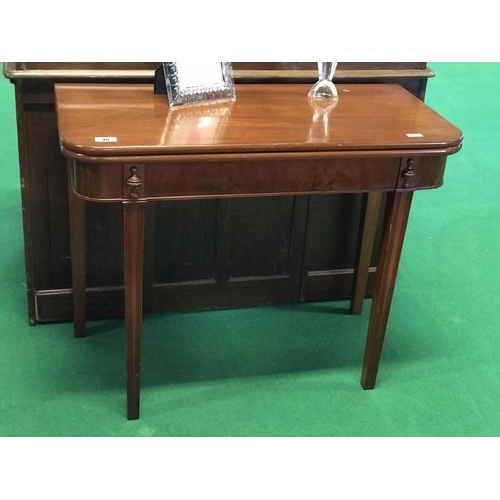 46 - Mahogany turn over leaf games table 32'' W x 19'' D x 29''H...
