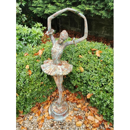 1 - Cast iron figure of a ballerina. { 115cm H }....