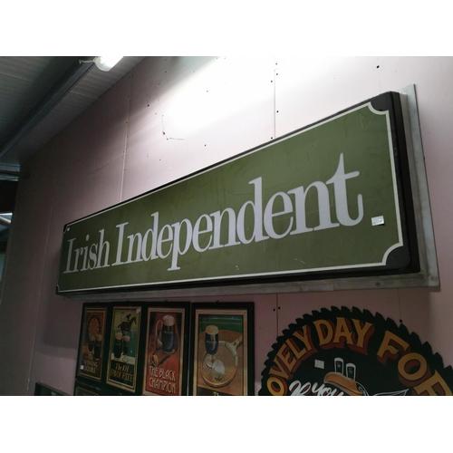 10 - Irish Independent Advertising Sign {58cm H X 244cm W}...