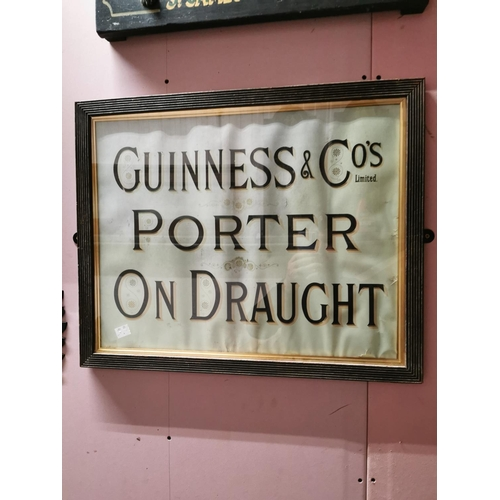 12 - Guinness & Cos Ltd Porter and Draught Advertising Sign in original frame {54cm H X 67cm W}...