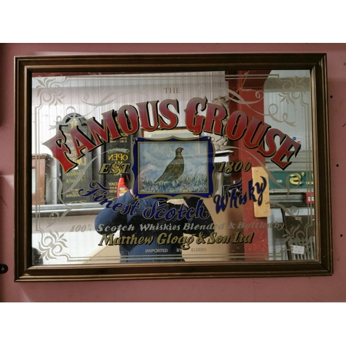 14 - Famous Grouse Finest Scotch Whisky Advertising Mirror {62cm H X 88cm W}...