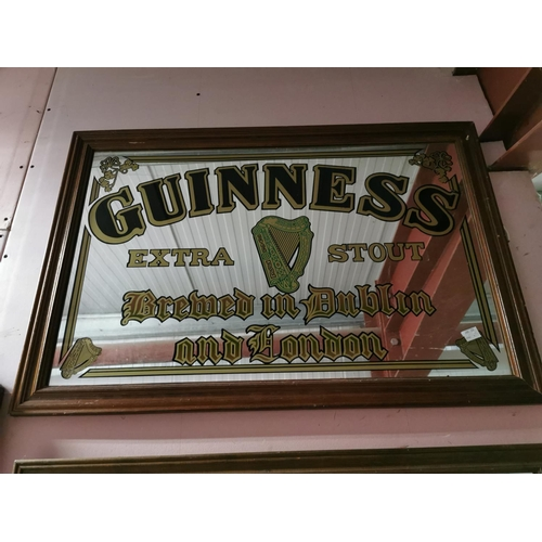 15 - Guinness Extra Stout Brewed in Dublin & London Advertising Mirror {65cm H x 95cm W}...