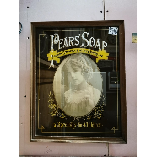 2 - Pears Soap A Speciality For Children advertising mirror. { 49cm H X 39cm W }...