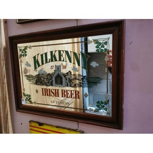 3 - Kilkenny 1710 Irish Beer From Guinness advertising mirror. { 40cm H X 55cm W }....