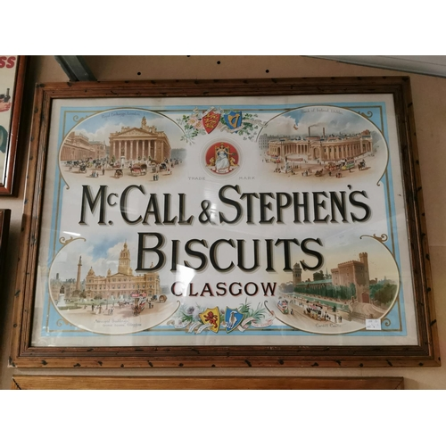 34 - McCall and Stephens Biscuits Glasgow Advertising Print {64cm H X 88cm W}...