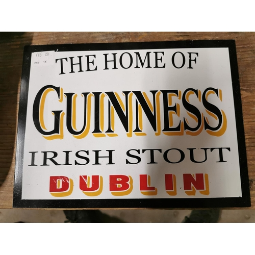 39 - The Home of Guinness Irish Stout Dublin Tin Plate Sign {23cm H X 30cm W}...