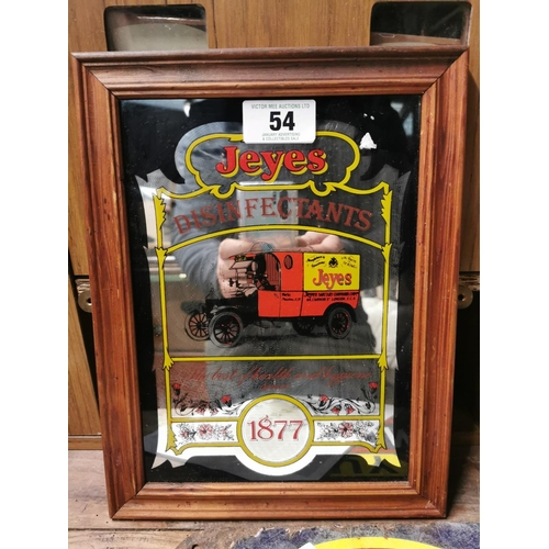 54 - Jays Disinfectants 1877 Advertising Mirror {32cm H X 25cm W}...