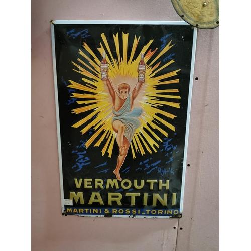 6 - Vermont Martini tinplate advertising sign. { 60cm H X 39cm W }....