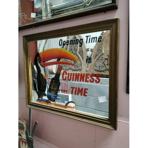 7 - Opening Time Is Guinness Time advertising mirror. { 40cm H X 50cm W }....