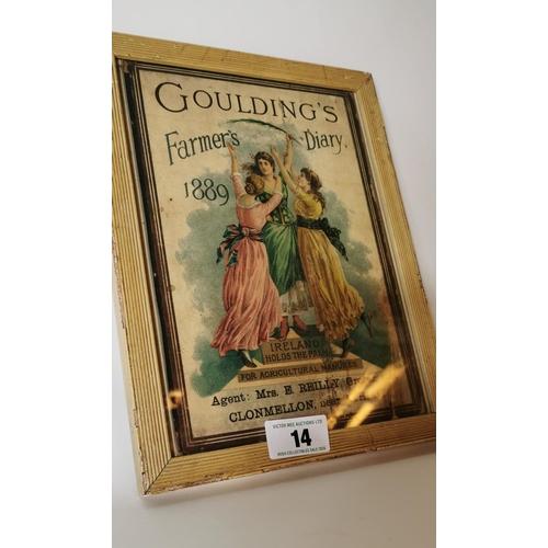 14 - Goulding Farmers Dairy framed print. Agent Mrs E Reilly Clonmel...
