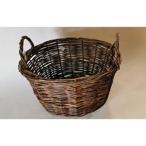 20 - Late 19th. C. Wicker basket....