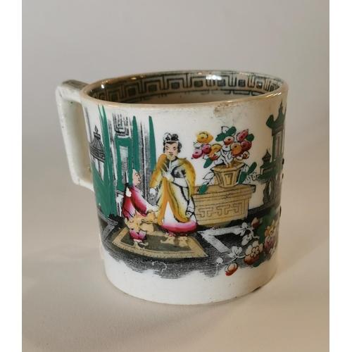 3 - 19th. C. transfer mug....