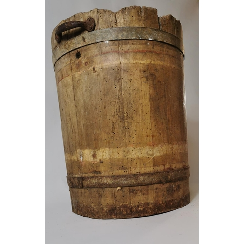 39 - 19th. C. pine storage box. (42 cm H)...