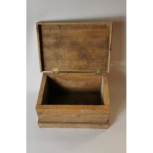 48 - 19th. C. pine apprentice trunk....