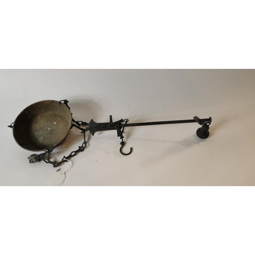 52 - 19th. C. brass grocer's scales....