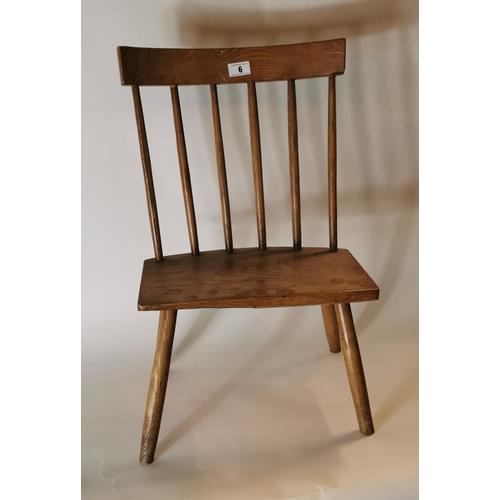 6 - 19th. C. ash and elm Antrim chair....