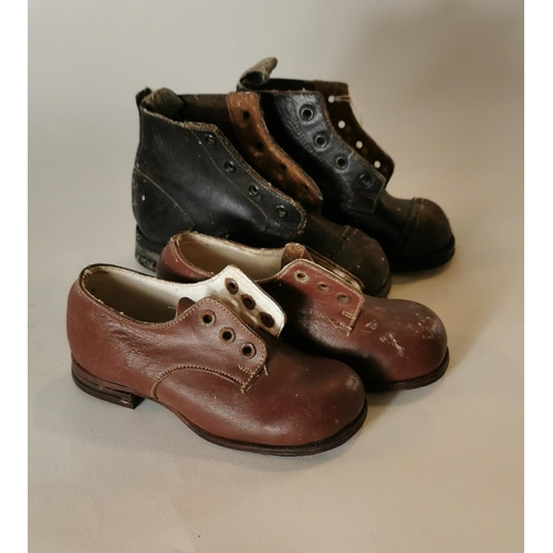 7 - Pair of 1960's child's shoes and 1970's pair....