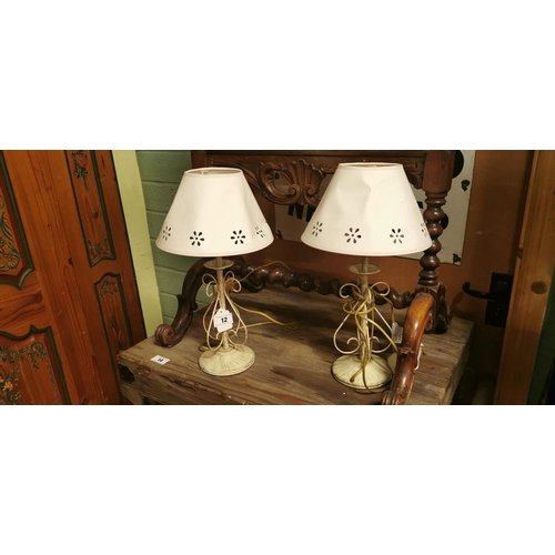 12 - Two modern table lamps....