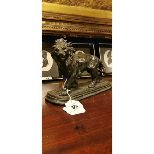35 - Speltermodel of Lion....