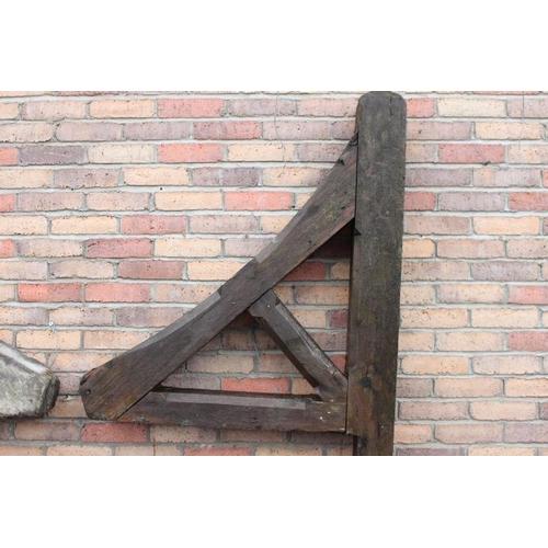 119 - Pair of wooden wall brackets {200 cm H x 70 cm W x 16 cm D}....