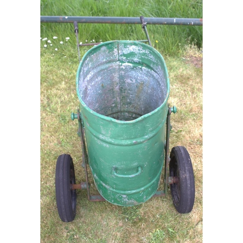 13 - Green garden bin on trolly {76 cm H x 60 cm W x 120 cm D}....