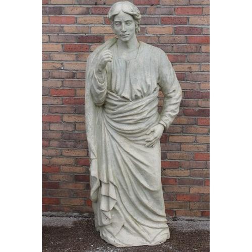 149 - Resin figure of Greek Gentleman {180 cm H x 70 cm W x 40 cm D}....