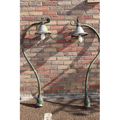 161 - Pair of Swan neck lights {150 cm H x 25 cm W x 50 cm D}....