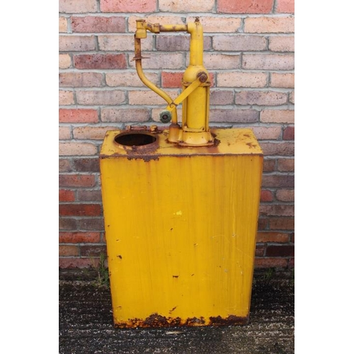 215 - Late 1930's yellow oil cabinet {130 cm H x 60 cm W x 26 cm D}....
