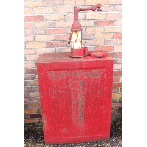 216 - Late 1930's red oil cabinet {150 cm H x 74 cm W x 340 cm D}....