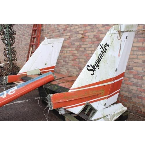234 - Skymaster aeroplane tail {170 cm H x 330 cm W x 150 cm D}....