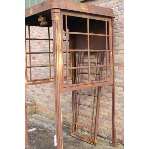 238 - Cast iron telephone box {242 cm H x 114 cm W x  124 cm D}....