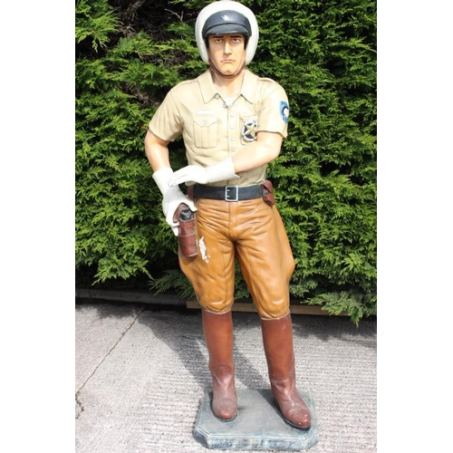 260 - Life size model of a Highway Cop {182 cm H}....