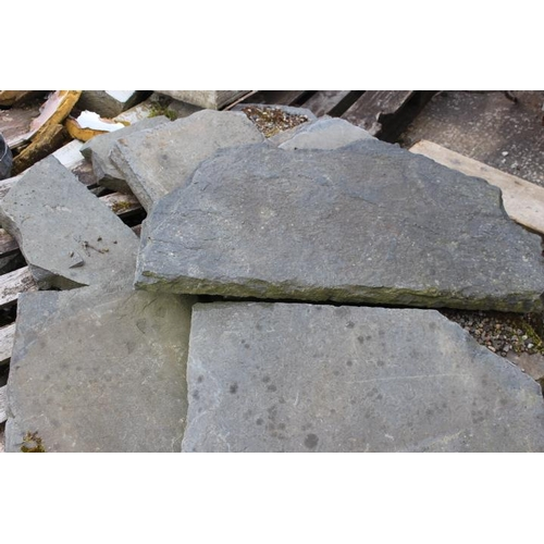 264 - Collection of slate flooring {Roughly 4 metres Sq. x 6 cm D}....