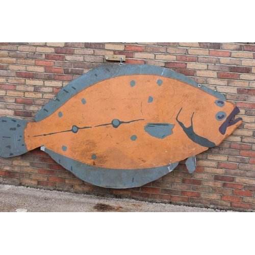 272 - Metal double sided model of a blue and orange Fish....
