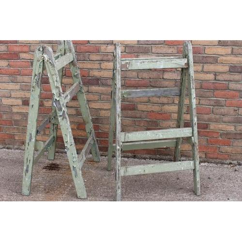 279 - Pair of painters step ladders {120 cm H x 56 cm W x 70 cm D}....