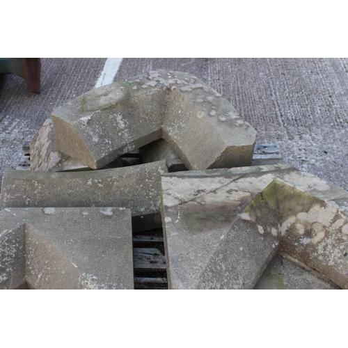 348 - Three Gothic sandstone heads {170 cm W x 15 cm D}....