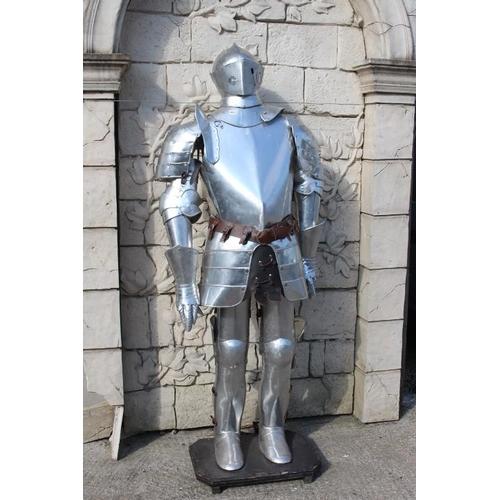 349 - Medieval style Suit of Armour {182 cm H x 70 cm W x 40 cm D}....