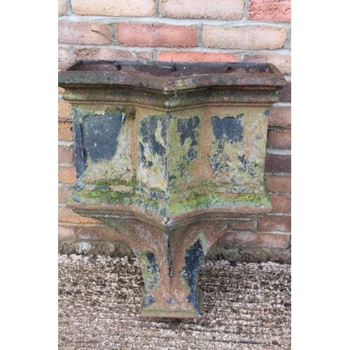 42 - 19th C. cast iron roof spout gully {70 cm H x 55 cm W x 320cm D}....