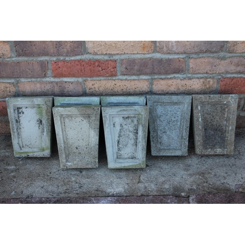 470 - Collection of seven composition keystones {20 cm H x widest point 15 cm W tapering to 12 cm W x 6 cm...